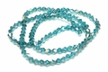 4mm Blue Zircon Crystal AB Faceted Bicone Beads Approx.19""