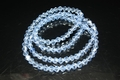4mm Light Sapphire Crystal Faceted Bicone Beads Approx.20""