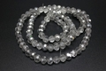 "4mm Silver Crystal Faceted Round 100 Beads (Approx.15"")"