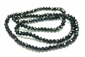 4x3mm Jet Black Crystal Faceted Rondelle Beads Approx.18""