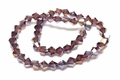 6mm Amethyst Crystal AB Faceted Bicone Beads Approx.11""