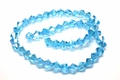 6mm Aquamarine Crystal AB Faceted Bicone Beads Approx.11""