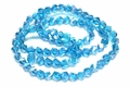 6mm Aquamarine Crystal AB Faceted Helix Beads Approx.22""