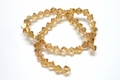 6mm Champagne Crystal AB Faceted Bicone Beads Approx.11""