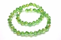 6mm Emerald Green Crystal AB Faceted Bicone Beads Approx.11""