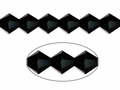 6mm Jet Black Crystal Faceted Bicone Beads Approx.11""