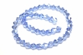 6mm Light Sapphire Crystal AB Faceted Bicone Beads Approx.11""