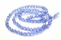 6mm Light Sapphire Crystal Faceted Helix Beads Approx.22""