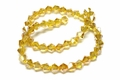 6mm Light Topaz Crystal AB Faceted Bicone Beads Approx.11""