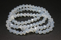 6mm Moonstone Faceted Helix Beads Approx.20""