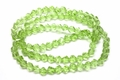 6mm Peridot Crystal Faceted Helix Beads Approx.22""