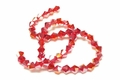 6mm Red Crystal AB Faceted Bicone Beads Approx.11""