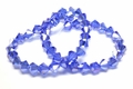 6mm Royal Blue Crystal AB Faceted Bicone Beads Approx.11""