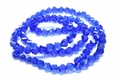 6mm Royal Blue Crystal Faceted Helix Beads Approx.22""