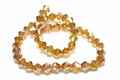 6mm Sun Crystal AB Faceted Bicone Beads Approx.11""