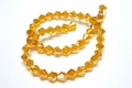 6mm Sun Crystal Faceted Bicone Beads Approx.11""