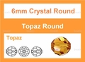 6mm Sun Crystal Faceted Round Beads Approx.23""