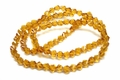 6mm Topaz Crystal Faceted Helix Beads Approx.22""