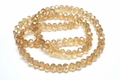 6x4mm Champagne Crystal AB Faceted Rondelle Beads Approx.17""
