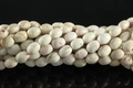 6x9mm White Stabilized Turquoise Rice Beads 15.5""