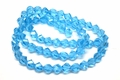 8mm Aquamarine Crystal Faceted Helix Beads Approx.22""