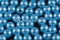 8mm Best Lustre Blue Pearl Plastic Beads Approx.70pcs