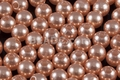 8mm Best Lustre Orange Pearl Plastic Beads Approx.70pcs