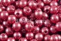 8mm Best Lustre Red Pearl Plastic Beads Approx.70pcs