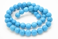 8mm Blue Turquoise Round Beads 15.5""
