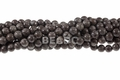 8mm Brown Snowflake Round Beads 15.5""