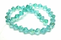 8mm Emerald Green Crystal AB Faceted Bicone Beads Approx.10""