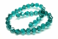 8mm Emerald Green Crystal Faceted Helix Beads Approx.11""