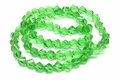 8mm Emerald Green Crystal Faceted Helix Beads Approx.20""