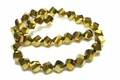 8mm Metallic Gold Crystal Faceted Helix Beads Approx.11""