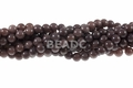 8mm Plum Jade Round Beads 15.5""