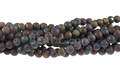 8mm Rainbow Druzy Agate (Frosted) Round Beads 15.5""