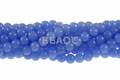 8mm Reconstituted Light Chalcedony Round Beads 15.5""