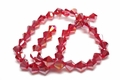 8mm Red Crystal AB Faceted Bicone Beads Approx.12""