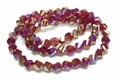 8mm Red Crystal AB Faceted Helix Beads Approx.22""