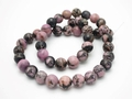 8mm Rhodonite Round Beads 15.5""