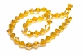 8mm Sun Crystal AB Faceted Bicone Beads Approx.13""