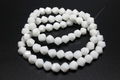 8mm White Obsidian Crystal Twisted Beads 15.5""