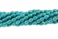 8x12mm Blue Stabilized Turquoise Rice Beads 15.5""