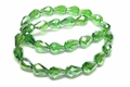8x12mm Emerald Green Crystal AB Faceted TearDrop Beads Approx.14""