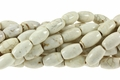 8x12mm White Stabilized Turquoise Rice Beads 15.5""