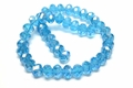 8x6mm Aquamarine Crystal AB Faceted Rondelle Beads Approx.17""