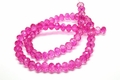 8x6mm Crystal Faceted Rondelle Beads Approx.17""