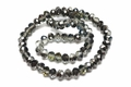 8x6mm Silver Night Crystal Faceted Rondelle Beads Approx.16""