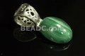 10x14mm A Grade Natural Malachite Oval Cabochon Pendant