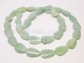 Amazonite 8x12mm Carved Leaf Beads 16""